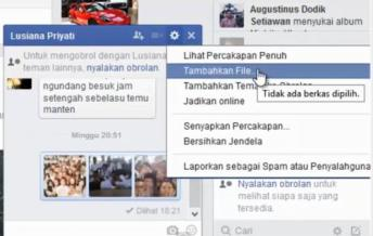 Kirim File Melalui Facebook
